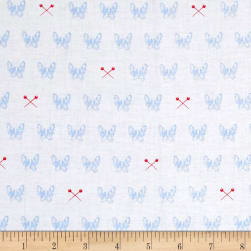 Riley Blake Blue Carolina Edie White Fabric