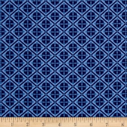 Riley Blake Blue Carolina Tile Navy Fabric