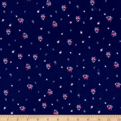 Riley Blake Blue Carolina Ditz Navy Fabric