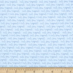 Riley Blake Blue Carolina Tagline Blue Fabric