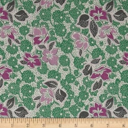 Penny Rose Sorbet Main Green Fabric