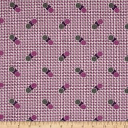 Penny Rose Sorbet Spots on Grid Purple Fabric