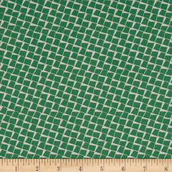 Penny Rose Sorbet Squares Green Fabric