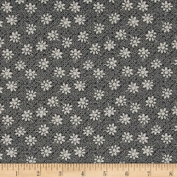 Penny Rose Sorbet Floral Gray Fabric