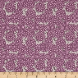 Penny Rose Sorbet Circles Purple Fabric