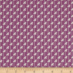 Penny Rose Sorbet Tee Stripes Purple Fabric