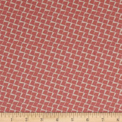 Penny Rose Sorbet Squares Coral Fabric
