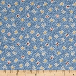 Penny Rose Sorbet Floral Blue Fabric