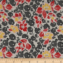 Penny Rose Sorbet Main Black Fabric