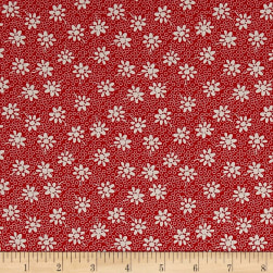 Penny Rose Sorbet Floral Red Fabric