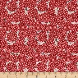 Penny Rose Sorbet Circles Red Fabric