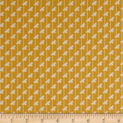 Penny Rose Sorbet Tee Stripes Yellow Fabric