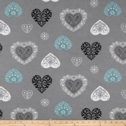 Stof France Amancy Gris/Glacier Fabric