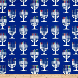 Menorah Madness Digitally Printed  Blue