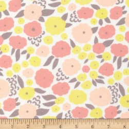 Cloud 9 Organic Flannel Field Day Cottonflower Pink Fabric