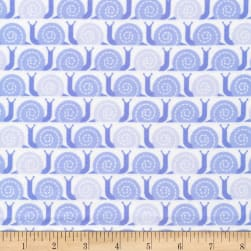 Cloud 9 Organic Flannel Field Day Snail's Pace Blue