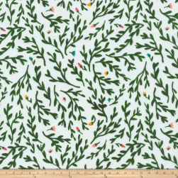 Cloud 9 Organic Gather Sweetbriar Green Fabric