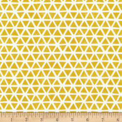 Cloud 9 Organic Interlock Knit Triangles Citron Fabric
