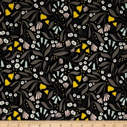 Cloud 9 Organic Floral Slate Fabric