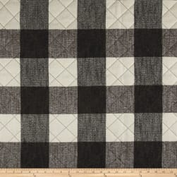 Buffalo Check Quilted Chenille Grey & Natural Fabric