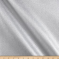 Fiesta Basketweave Vinyl Silver Fabric
