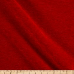 Alpine Chenille Red Fabric