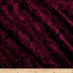 Alpine Crushed Velvet Burgundy Fabric