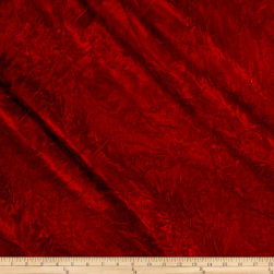 Alpine Crushed Velvet Red Fabric
