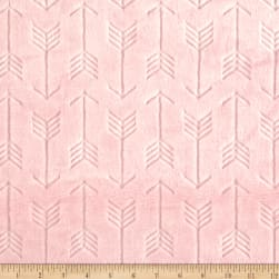 Shannon Minky Embossed Arrow Cuddle Blush