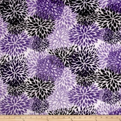 Shannon Premier Prints Minky Cuddle Blooms Purple