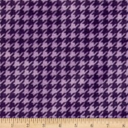 Shannon Minky Houndstooth Cuddle Amethyst/Lilac