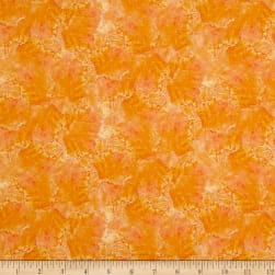 By the Sea Coral Orange Fabric