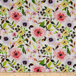 Cherish Floral White Fabric