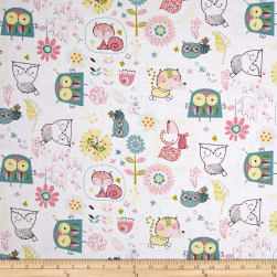 Whimsy Woodland Whimsy In The Woods White Fabric