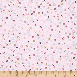 Whimsy Woodland Circle Dot LT Pink Fabric