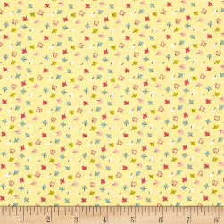 Whimsy Woodland Small Leaves Yellow Fabric