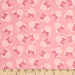 10 Yard Bolt Disney Minnie Mouse Flannel Toss Pink
