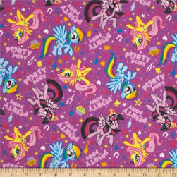 10 Yard Bolt Hasbro My Little Pony Flannel Party Ponies Purple