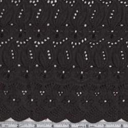 15 Yard Roll Fancy Eyelet Jet Black