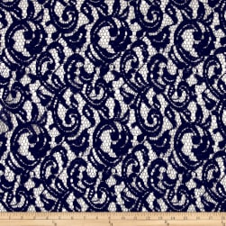 Maggy London Lace Scrolls Navy