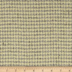 Houndstooth Suiting Butter Cream/Gray Fabric