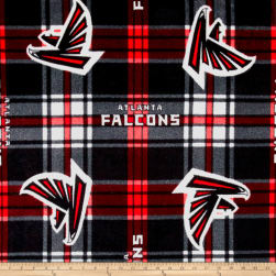 NFL Fleece Atlanta Falcons Black Red Fabric