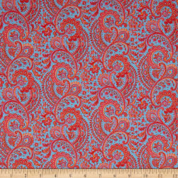 Liberty Fabrics Tana Lawn Liesl Orange Fabric