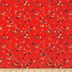 Liberty Fabrics Tana Lawn Staccato Red Fabric