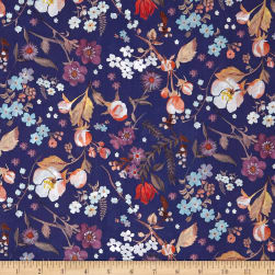 Liberty Fabrics Tana Lawn Heidi Blue Multi Fabric