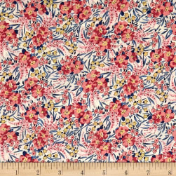 Liberty Fabrics Tana Lawn Swirling Petals Yellow Fabric
