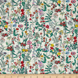 Liberty Fabrics Tana Lawn Garden Secrets Red Fabric