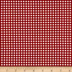 Wilmington Let's Go Glamping Gingham Red Fabric