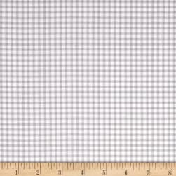 Wilmington Let's Go Glamping Gingham Gray Fabric