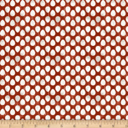 Wilmington Homestead Egg Dot Red Fabric